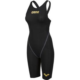 arena Powerskin Carbon Core FX Full Body Short Leg Open Back Swimsuit Women black/gold